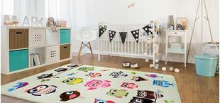 Obrázek Dětský koberec - Sovičky zelená