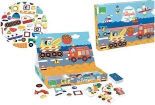 Obrázek Dřevěná hra- Skládací magnetická tabulka Doprava
