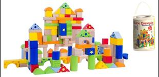 Obrázek Dřevěné kostky s motivem 150 kusů