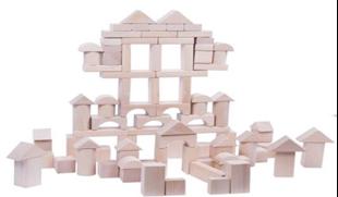Obrázek Dřevěné kostky 100 kusů - Přírodní