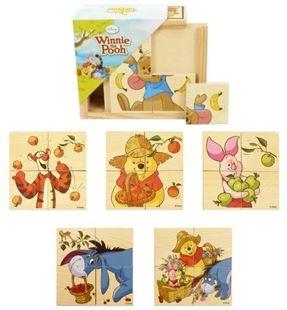 Obrázek Dřevěné puzzle - Medvídek Pú