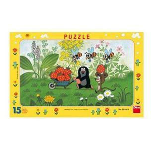 Obrázek Papírové puzzle 15 dílků Krtek na výletě