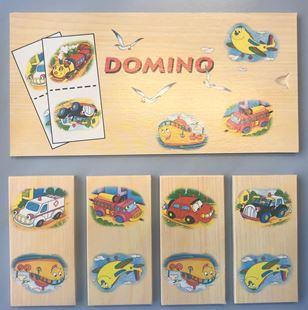 Obrázek Dřevěné domino - dopravní prostředky