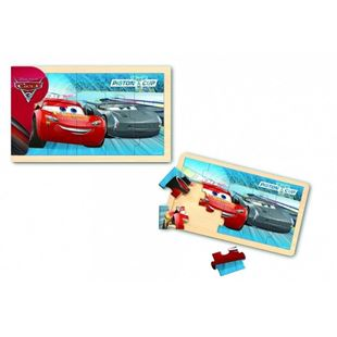 Obrázek Dřevěné puzzle - Cars 15 dílků