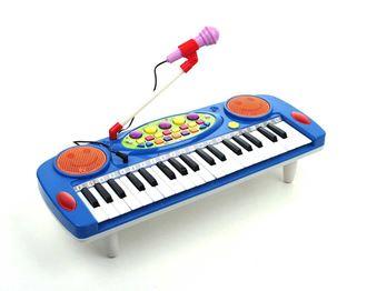 Obrázek z Dětské klávesy s mikrofonem