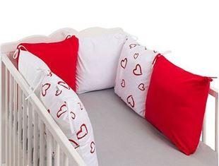 Obrázek Polštářkový mantinel Love - Červená