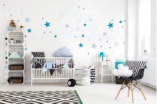 Obrázek Dekorace na zeď Hvězdičky - šedá/modrá