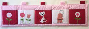 Obrázek Kapsář za postel velký 200x50 cm - Kočičky a květiny