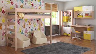 Obrázek Dětská vyvýšená postel - Hugo žebřík z boku - 200x90cm