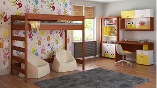 Obrázek Dětská vyvýšená postel - Hugo žebřík z boku - 180x80cm