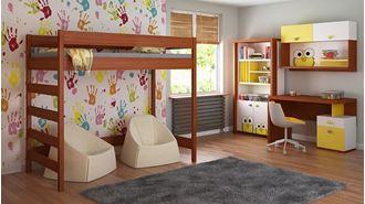 Obrázek z Dětská vyvýšená postel - Hugo žebřík z boku - 180x80cm