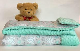 Obrázek Prošitá deka s polštářem MINKY