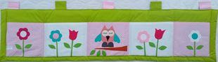 Obrázek Kapsář za postel velký 200x50 cm - Sova a kytičky