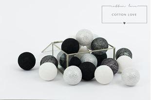 Obrázek Bavlněné svítící kuličky stříbrné