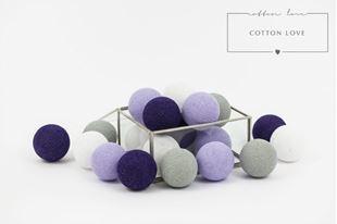 Obrázek Bavlněné svítící kuličky fialové