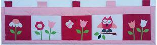 Obrázek Kapsář za postel velký 200x50 cm - Sovičky a kytičky