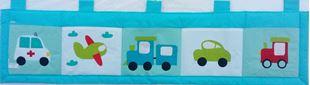 Obrázek Kapsář za postel 200x50 cm - Dopravní prostředky