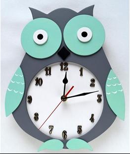 Obrázek Dětské dřevěné hodiny Sova