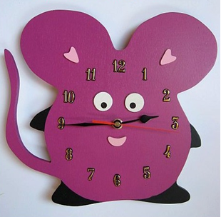 Obrázek Dětské dřevěné hodiny Myš