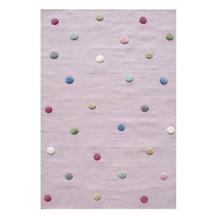 Obrázek Dětský koberec s puntíky - růžový 100x160 cm