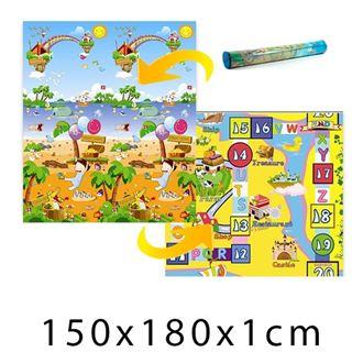 Obrázek z Dětský pěnový koberec Magický ostrov + Desková hra 150x180x1 cm