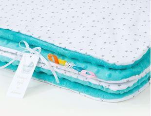 Obrázek Dětská deka Mini hvězdičky Minky 100x135 cm - různé barvy a varianty