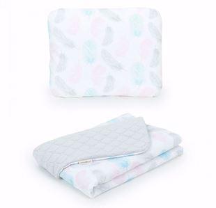 Obrázek Dětská deka s polštářem Pírka Velvet Lux 75x100 cm - různé barvy a varianty