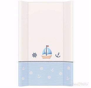 Obrázek Pevná přebalovací podložka 50x70 cm Loďka - Bílo-modrá