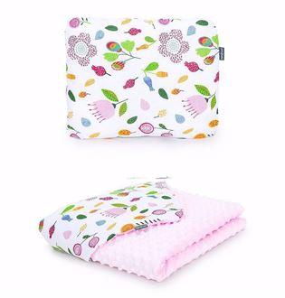 Obrázek z Dětská deka s polštářem Louka Minky 75x100 cm - různé varianty