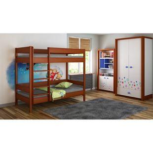 Obrázek Dětská dvoupatrová postel Diego žebřík zepředu - 180x80cm