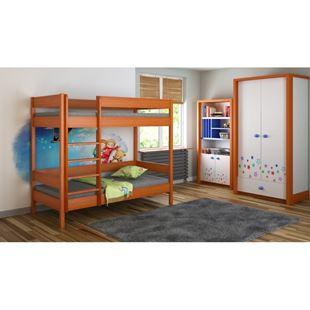 Obrázek Dětská dvoupatrová postel Diego žebřík zepředu - 200x90cm