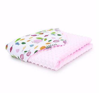 Obrázek z Dětská deka Louka Minky 100x135 cm - Růžová - různé varianty