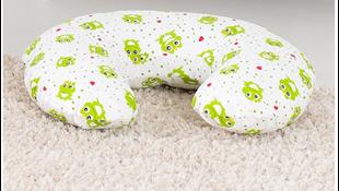 Obrázek Kojící polštář Žabky - Zelená