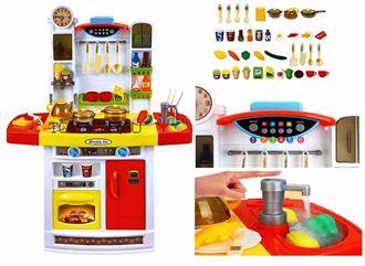 Obrázek z Velká dětská kuchyňka s tekoucí vodou a lednicí