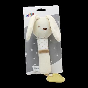Obrázek Plyšová hračka Tulilo s pískátkem Králíček, 17 cm - smetanový