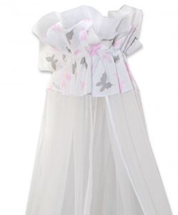 Obrázek Luxusní moskytiéra 170x400 cm Motýlci růžoví