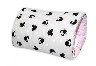 Obrázek Bavlněný kojící polštář na ruku - Minnie, šedá/růžová