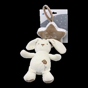 Obrázek Závěsná plyšová hračka Tulilo s melodií Králíček, 35 cm - smetanový