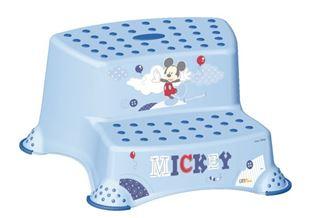 Obrázek Stolička - schůdky s protiskluzovou funkcí - Mickey Mouse - modrá