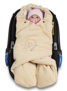 Obrázek Dětská zavinovačka, fusák polar, bio bavlna - béžová