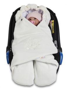 Obrázek Dětská zavinovačka, fusák polar, bio bavlna - smetana