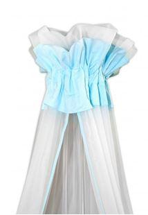 Obrázek Luxusní moskytiéra 160x400 cm - Medvídek Maxik - bílá,mátová