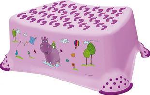 Obrázek Stolička, schůdek s protiskluzovou funkcí  - Hippo - fialová