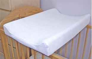 Obrázek Froté potah na přebalovací podložku, 70cm x 50cm - bílý