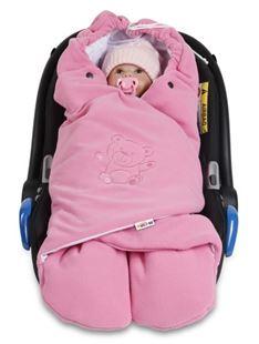 Obrázek Dětská zavinovačka, fusák polar, bio bavlna - růžová