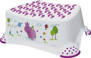 Obrázek Stolička, schůdek s protiskluzovou funkcí  - Hippo - bílá