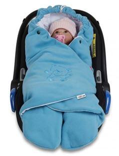 Obrázek Dětská zavinovačka, fusák polar, bio bavlna - modrá/tyrkysová