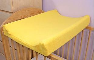 Obrázek Jersey potah na přebalovací podložku, 70cm x 50cm - žlutý