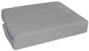 Obrázek Nepromokavé froté prostěradlo do kočárku 75 x 35 - šedé