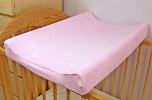 Obrázek Jersey potah na přebalovací podložku, 70cm x 50cm  - růžový